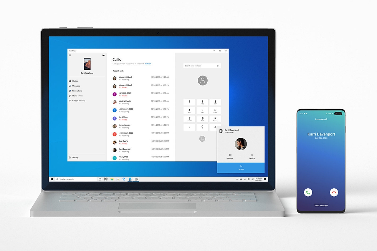 Windows 10 your phone android