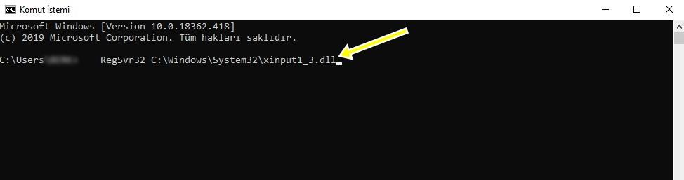 xinput1_3.dll hatası çözümü yapmak