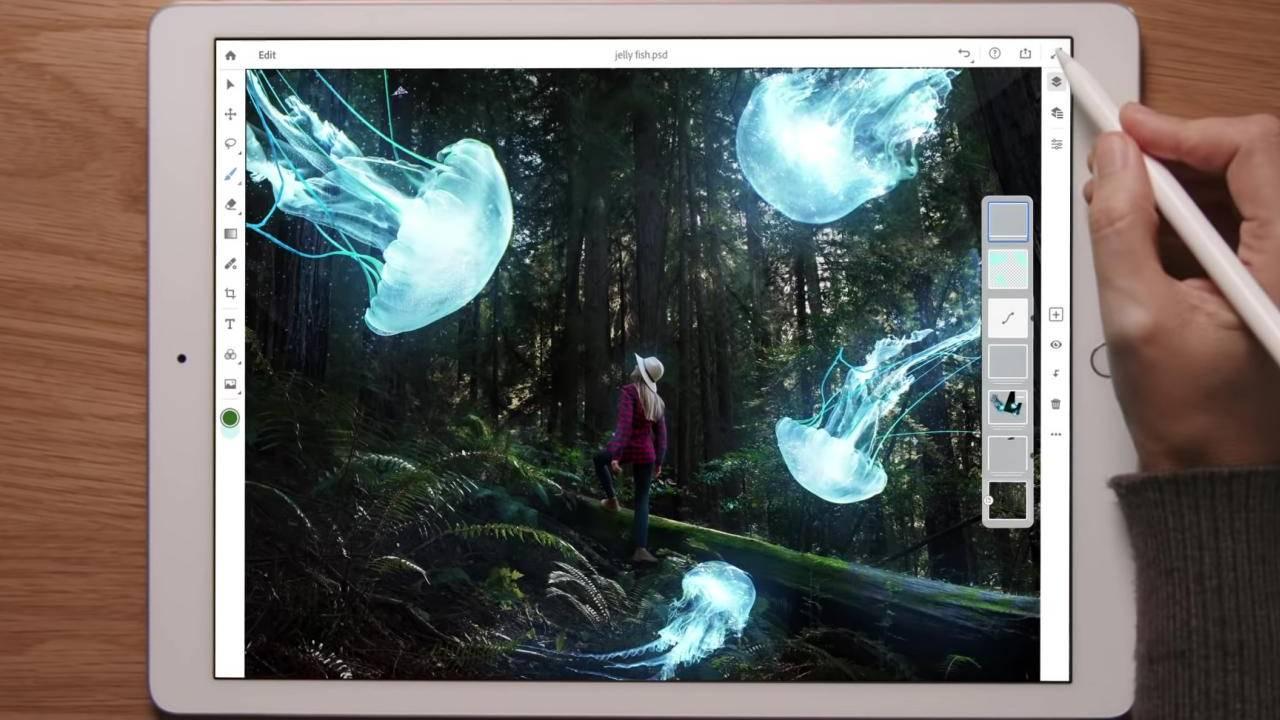 iPad için Adobe Photoshop uygulaması