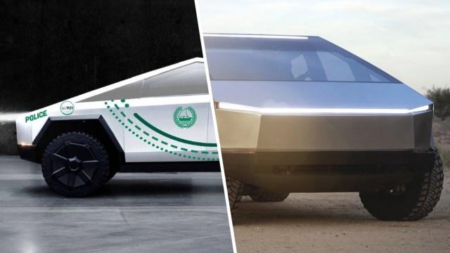 Tesla Cybertruck polis aracı