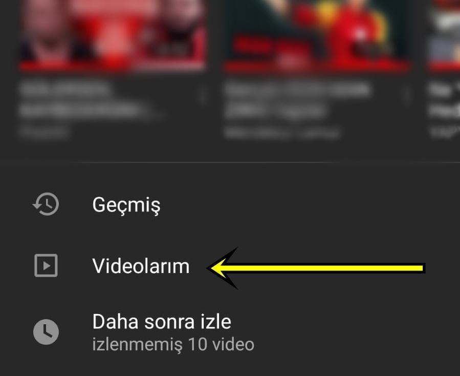 youtube'dan video silme