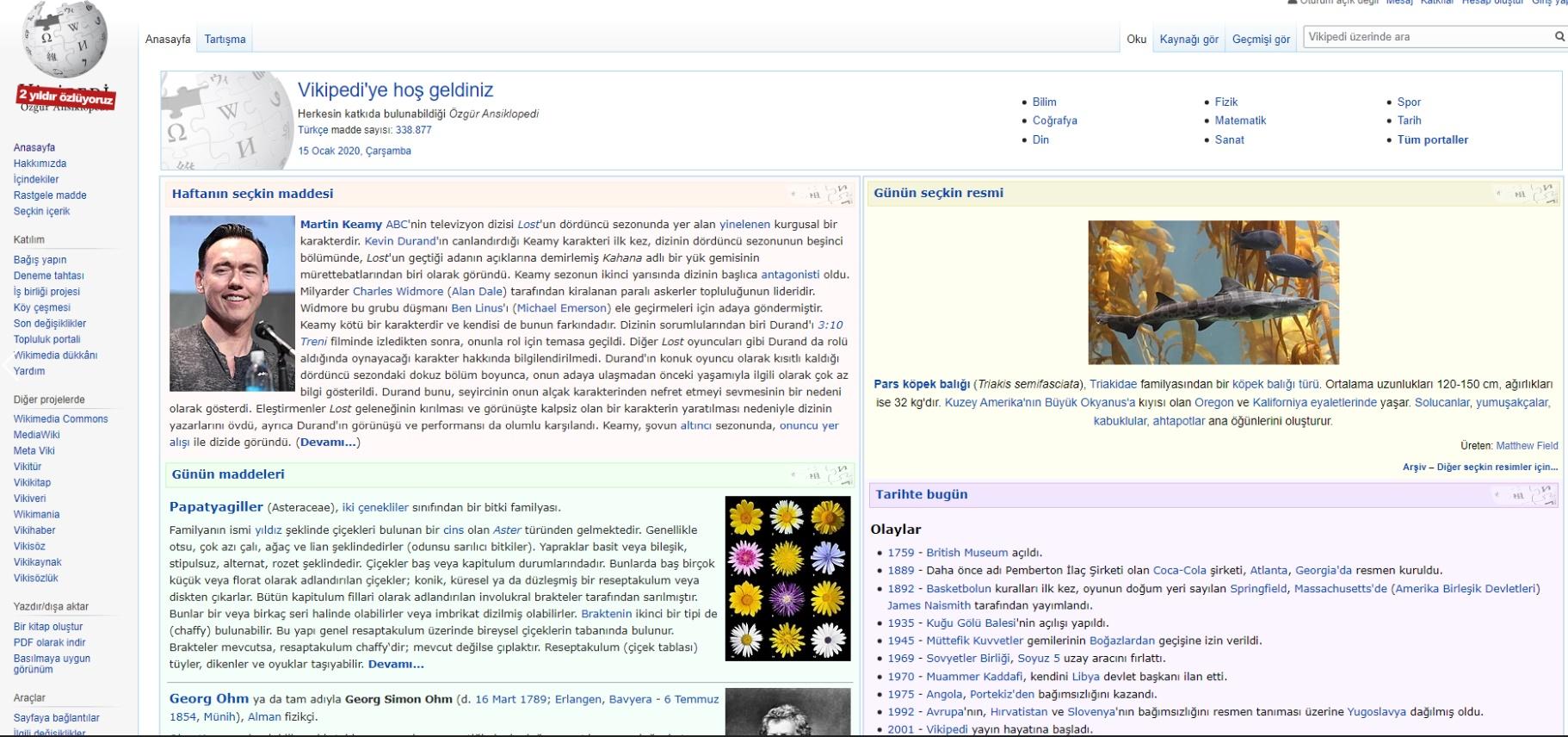 wikipedia açıldı