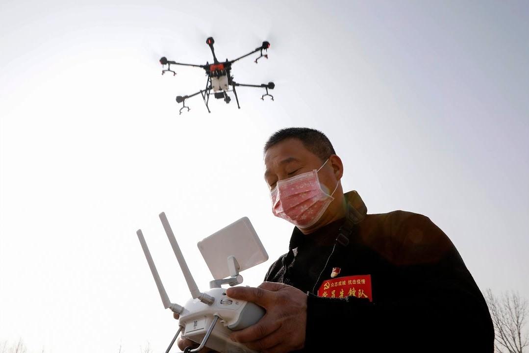Corona virüsü için Drone