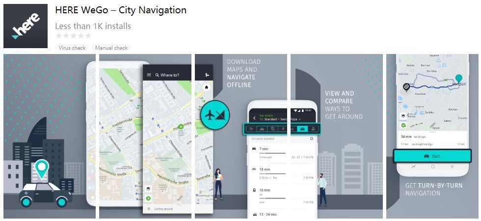 Huawei navigasyon uygulaması HERE WeGo