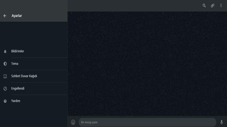 Mesajlaşma uygulaması Whatsapp masaüstü versiyonu için koyu renk teması sundu
