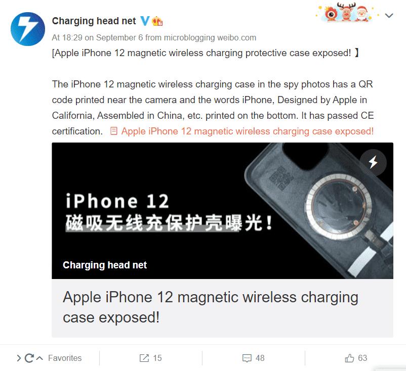 iPhone 12 manyetik kablosuz şarj aleti
