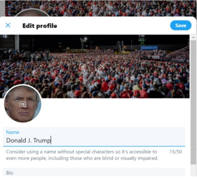Donald Trump'ın Twitter hesabı hacklendi iddiası
