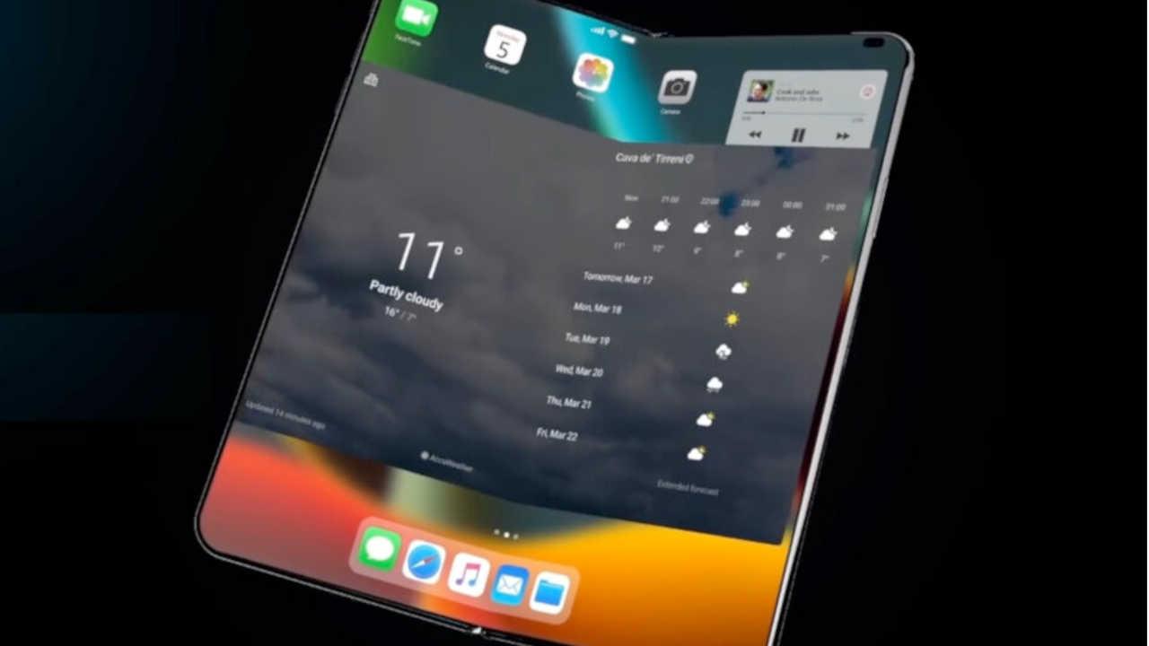 Katlanabilir iPhone için yeni ekran patenti ortaya çıktı 1