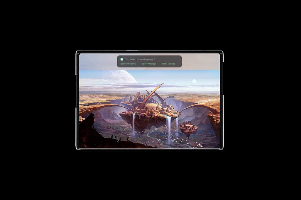Ekranı uzayan telefon OPPO X 2021