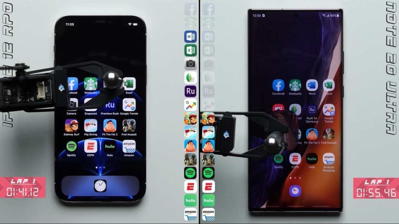 iPhone 12 Pro ve Galaxy Note 20 Ultra hız testi