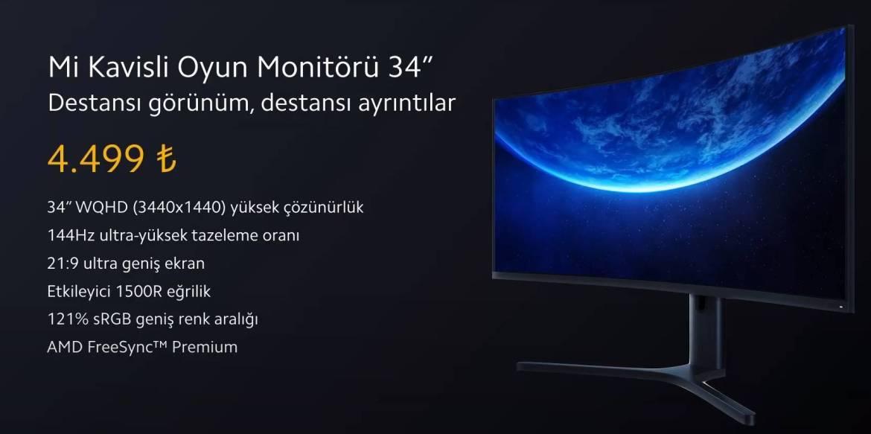 Xiaomi oyuncu monitörü ve projektör