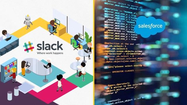 Slack Salesforce satış
