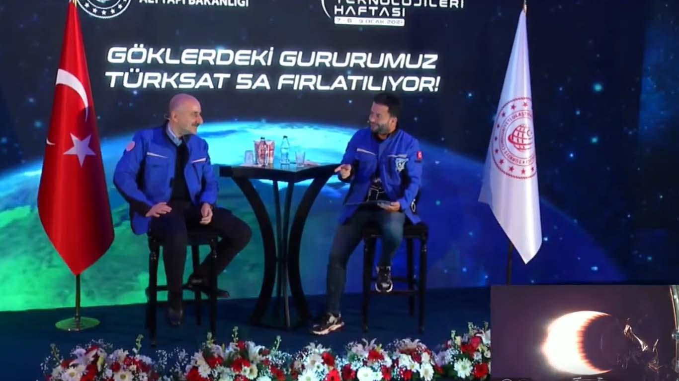 Türksat 5A canlı yayını Hakkı Alkan