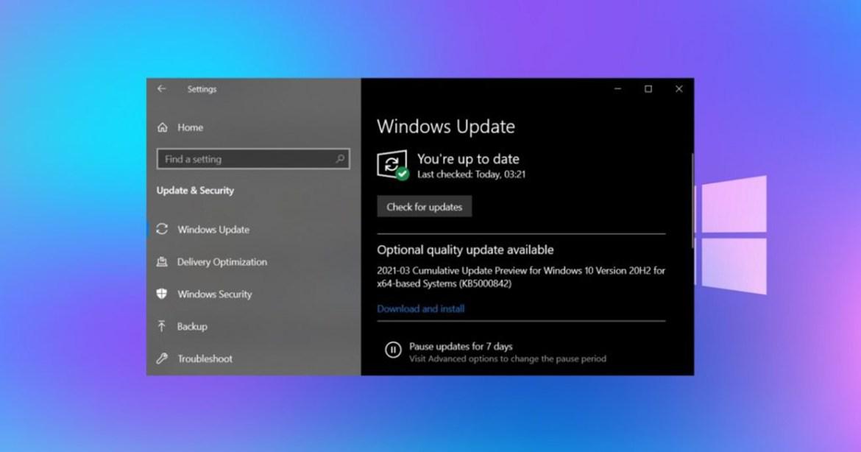 windows 10 güncelleme sorunu, windows 10 oyun sorunu, windows 10 güncellemeleri, Bilinen sorunları geri alma, windows 10 KB5000842