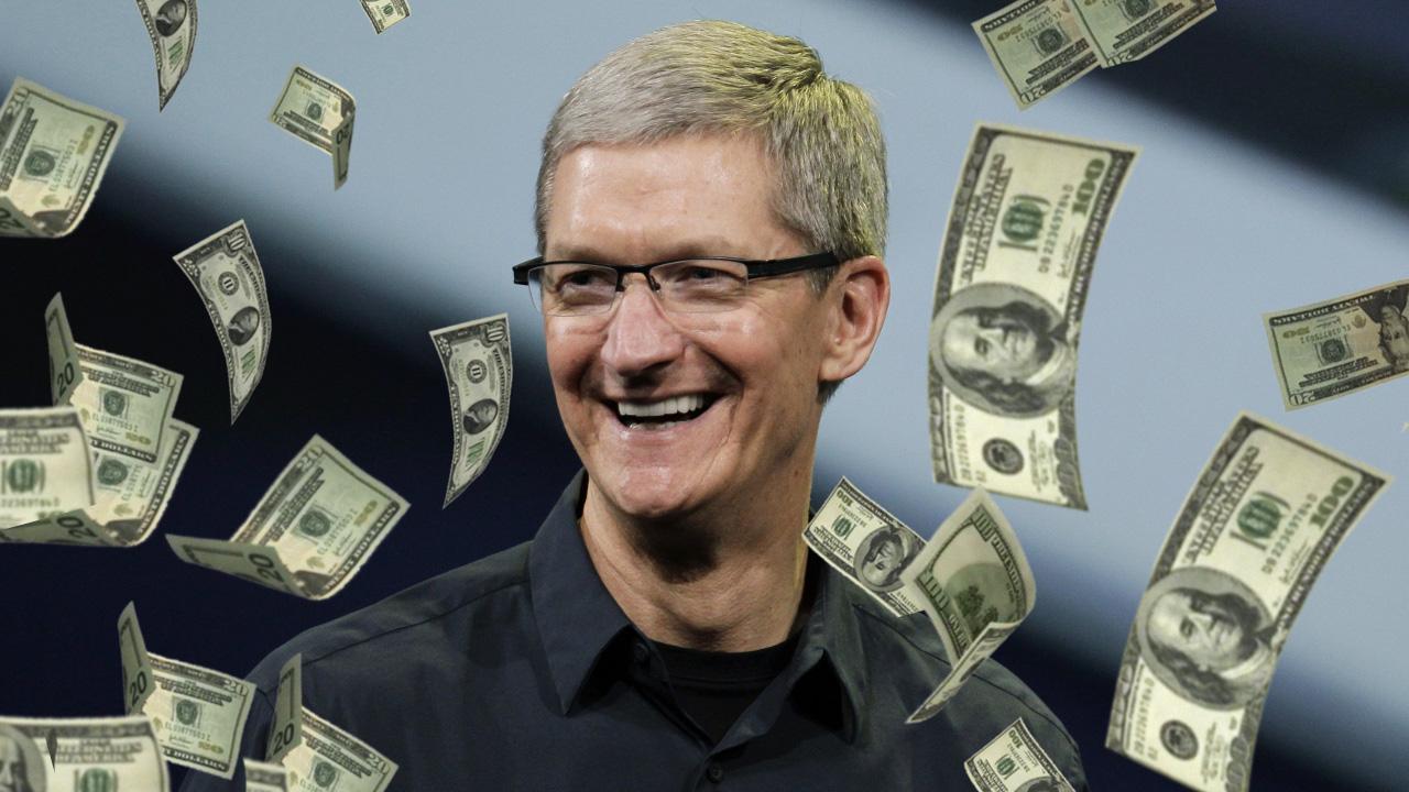 Apple piyasa değeri, Apple kasasındaki para