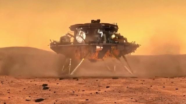 Çin'in Mars keşif aracı gezegene indi