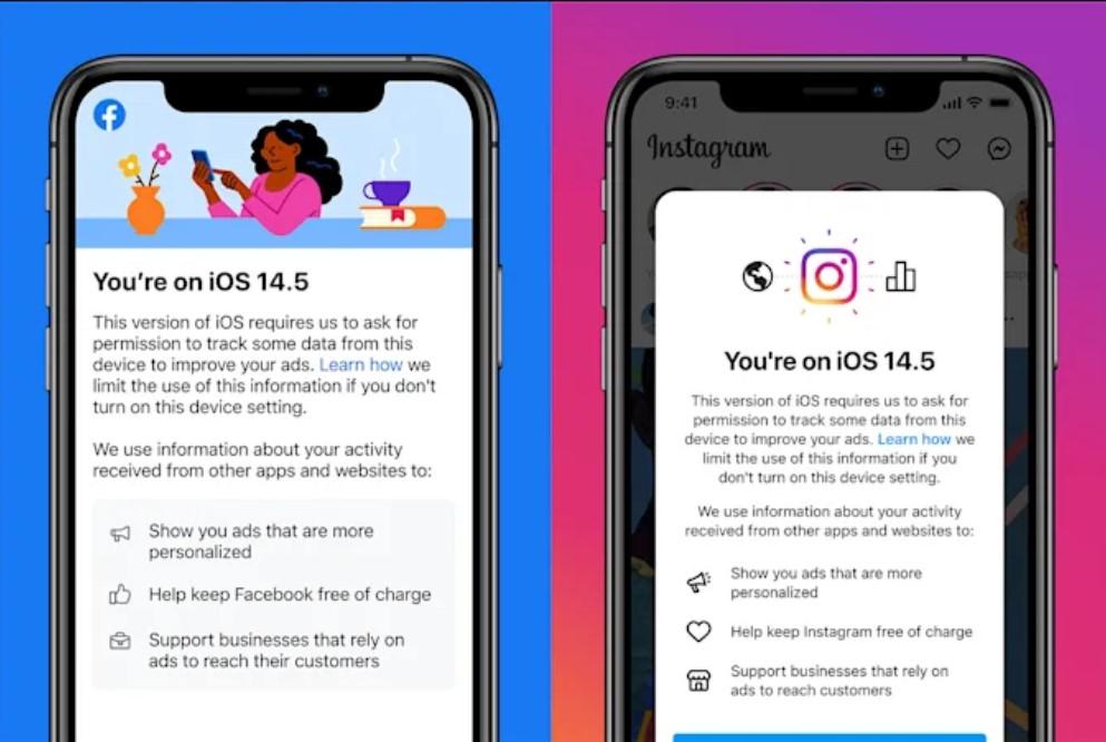 Instagram ve Facebook uygulamalarında iOS 14.5 gizliliği ile ilgili uyarı çıkıyor