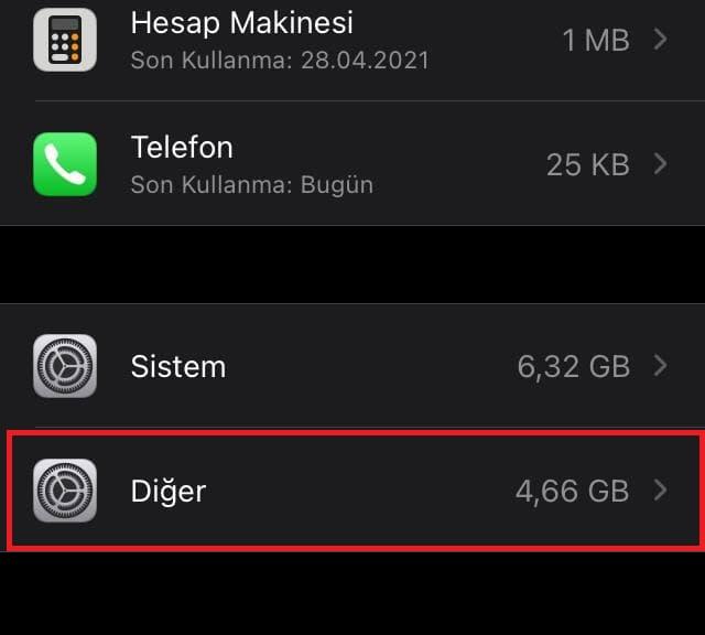 iphone depolama alanı boşaltma