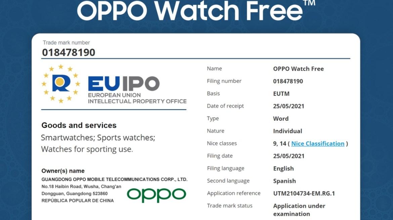 Oppo Watch Free akıllı saat.