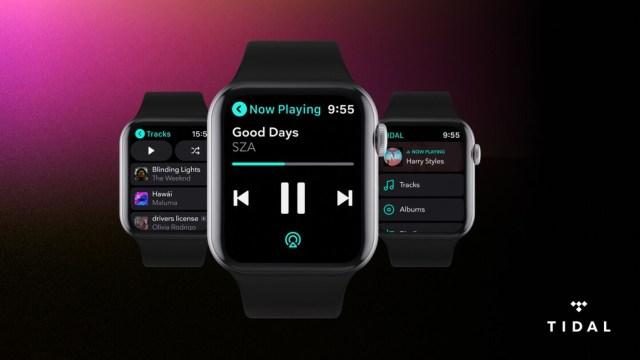 Tidal artık Apple Watch'ta çevrim dışı dinleme imkanı sunuyor.