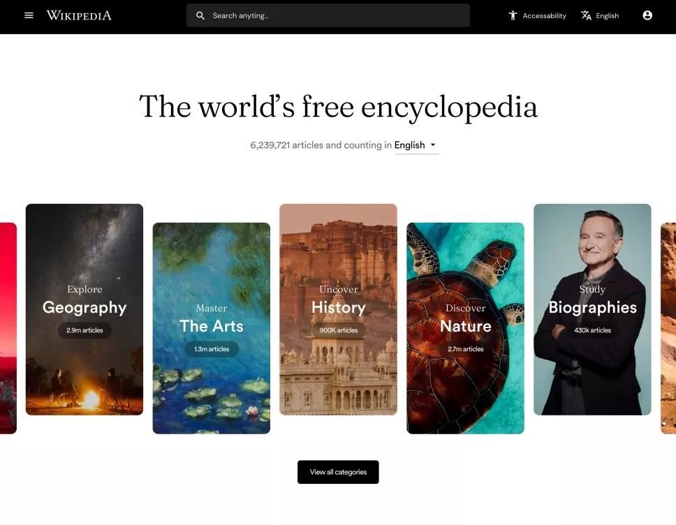 Kullanıcıları hayran bırakan Wikipedia konsept tasarımı