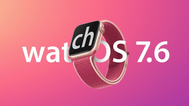 Apple watchOS 7.6 ikinci beta sürümü.