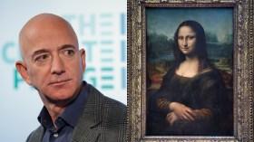 Binlerce kişi Jeff Bezos'un Mona Lisa'yı yemesini istiyor