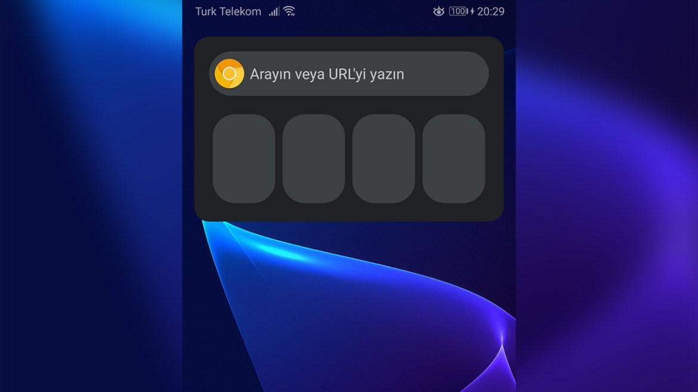 chrome android widget