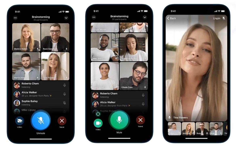 Telegram, grup içi görüntülü görüşme özelliğine kavuştu