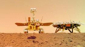 Zhurong gezgininin Mars'a iniş anını gösteren videolar paylaşıldı