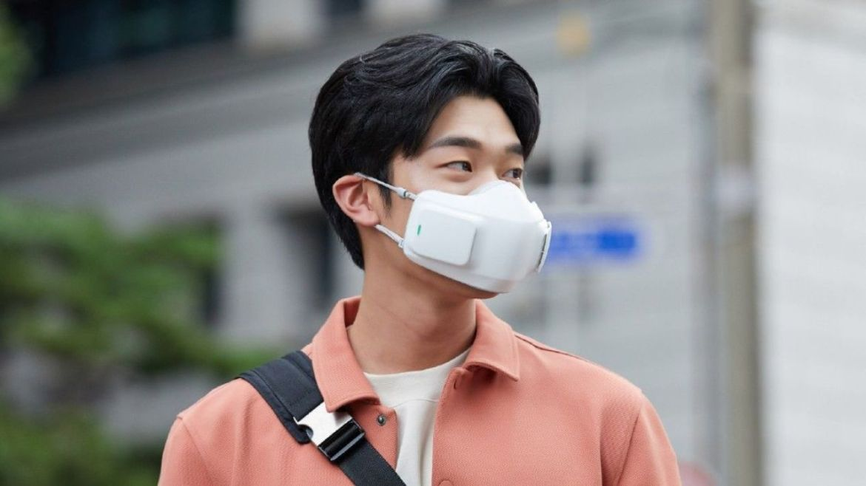 LGden kirli havayı temizleyen puricare yüz maskesi