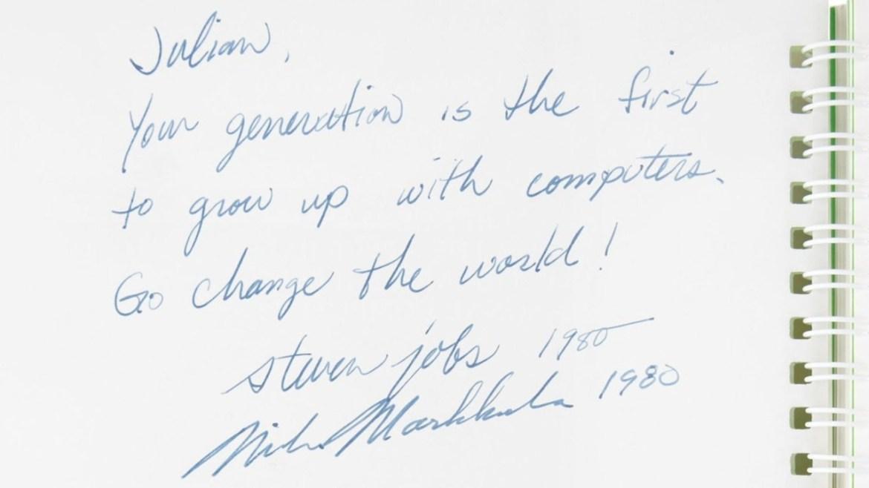 Steve Jobs'ın imzası