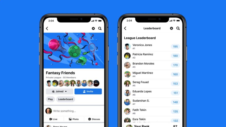 Facebook, iOS ve Android uygulamalarına yeni spor oyunları ekledi