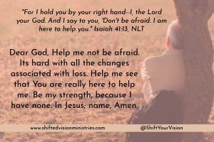 Grief births dependency on God. Relying on our own abilities will wreck us, but God wants us to depend on Him for help to get us through.