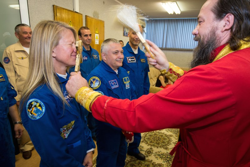 Expedition 36 Crew Blessing