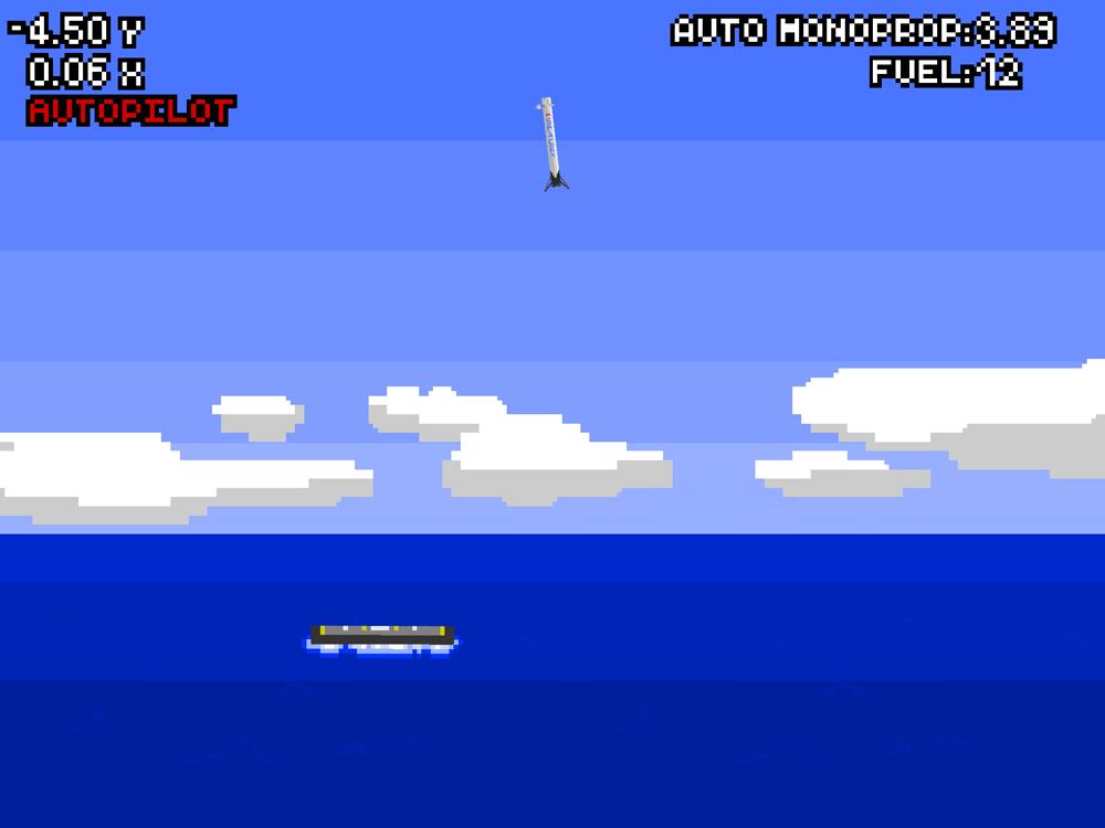 jogo Elon Musk aterrar um foguetão
