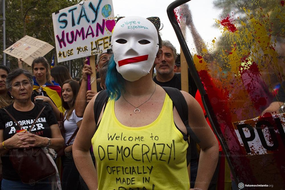 Imagens dos protestos na Catalunha