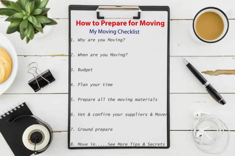 Moving Checklist, How to prepare for Moving, House Moving, Office Moving, good movers