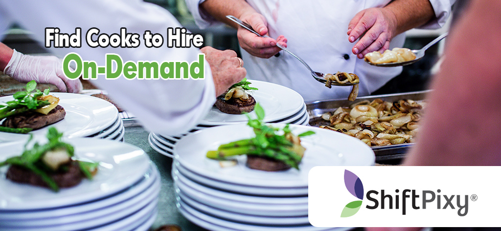 cooks for hire found using shiftpixy app