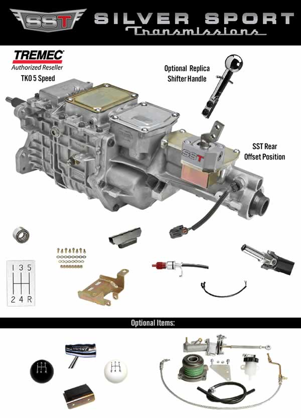SST TREMEC TKO 600 PerfectFit™ Conversion Kit 1968-1982