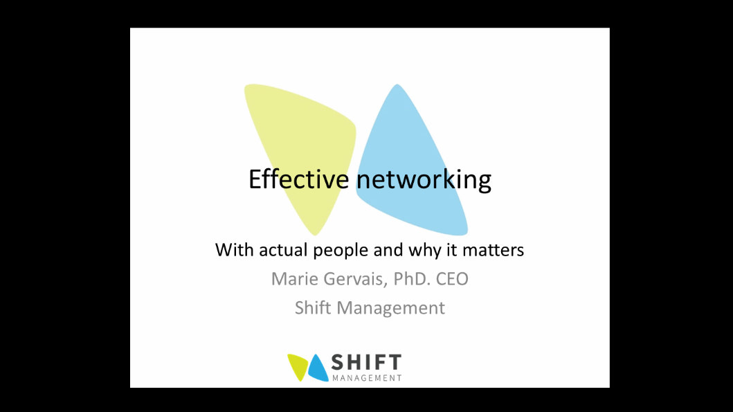 Effective networking with real people
