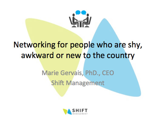 Networking for people who are shy, socially uncomfortable or new to the country