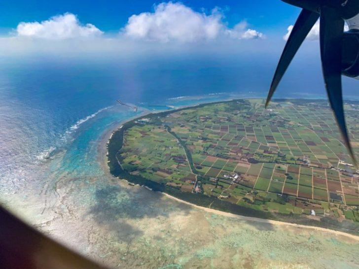 多良間島の航空写真