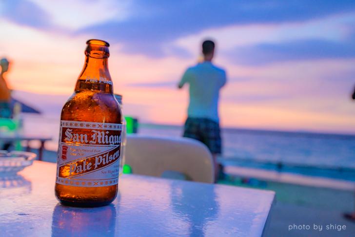 ホワイトビーチで飲んだビール