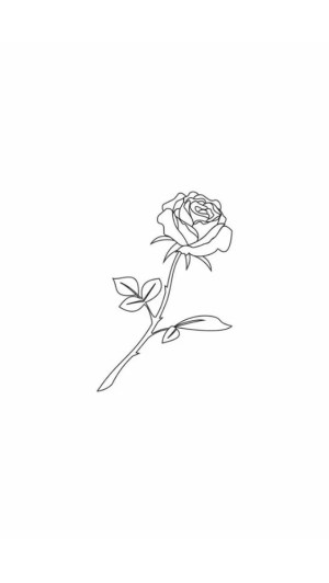 tattoo rose drawing whimsical easy cool tattoos vorlage drawings simple rosa branco draw outline einfach roses preto zeichnung aesthetic quick