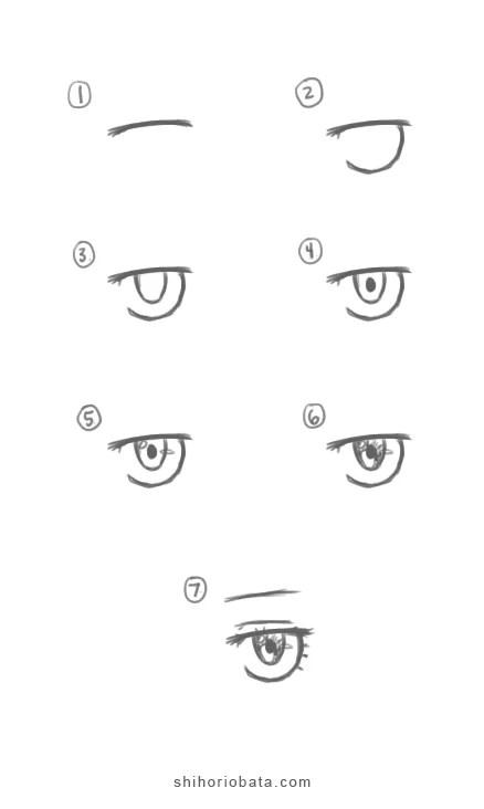 Anime Eyes Easy To Draw : anime, Anime, Eyes:, Tutorial