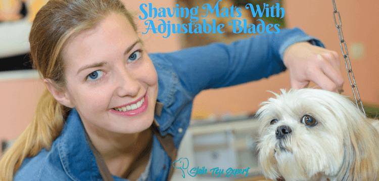 Shaving mats with adjustable blades