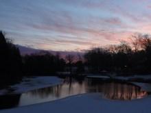 Dusk settles over our winter wonderland