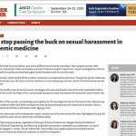 The Cancer Letter:Let's stop passing the buck on sexual harassment in academic medicine