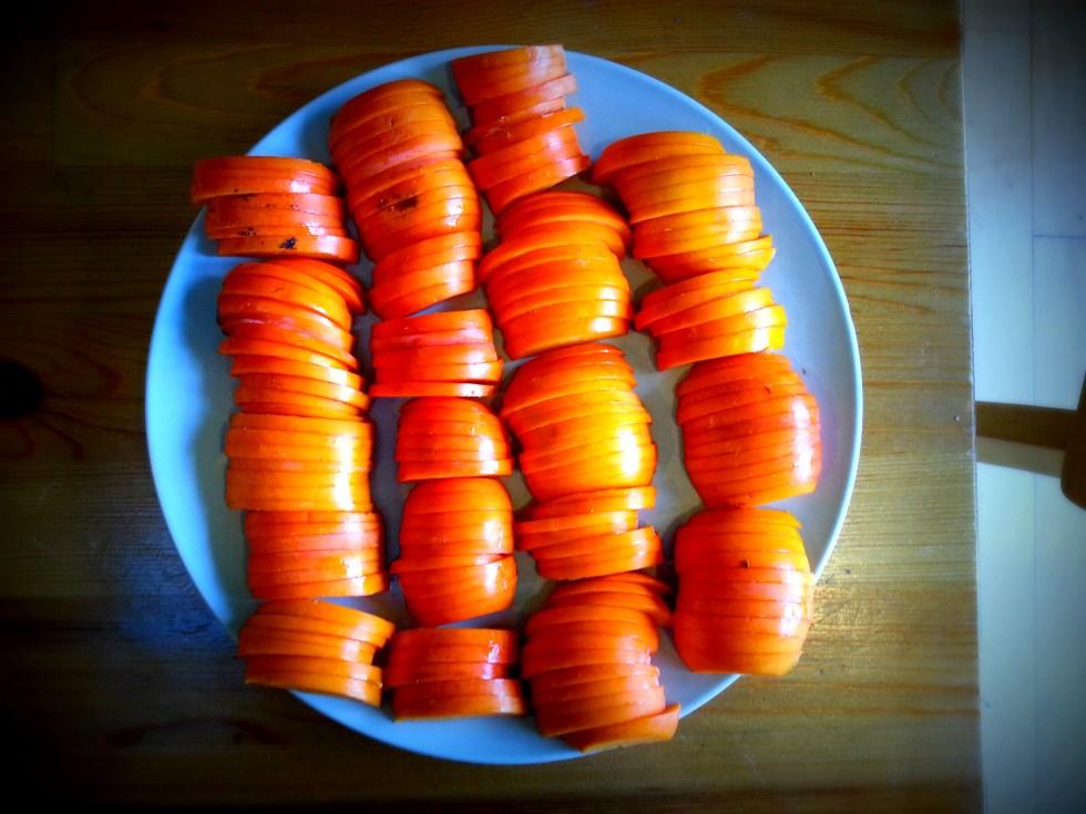 Persimmon Frangipane Tart